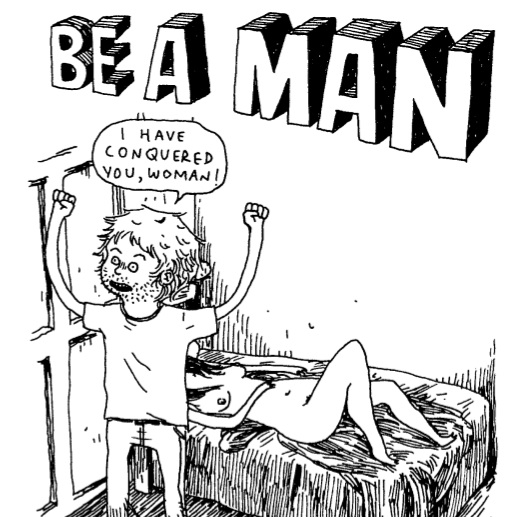 be a man comic