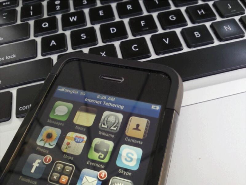 tethering mit dem iPhone