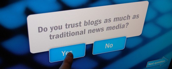 Do you trust blogs