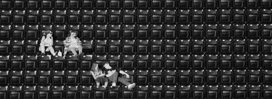 Lampenfieber leere Sitzplätze