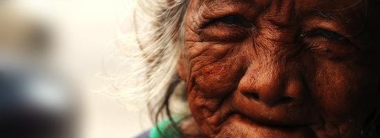 Gesicht alte Frau